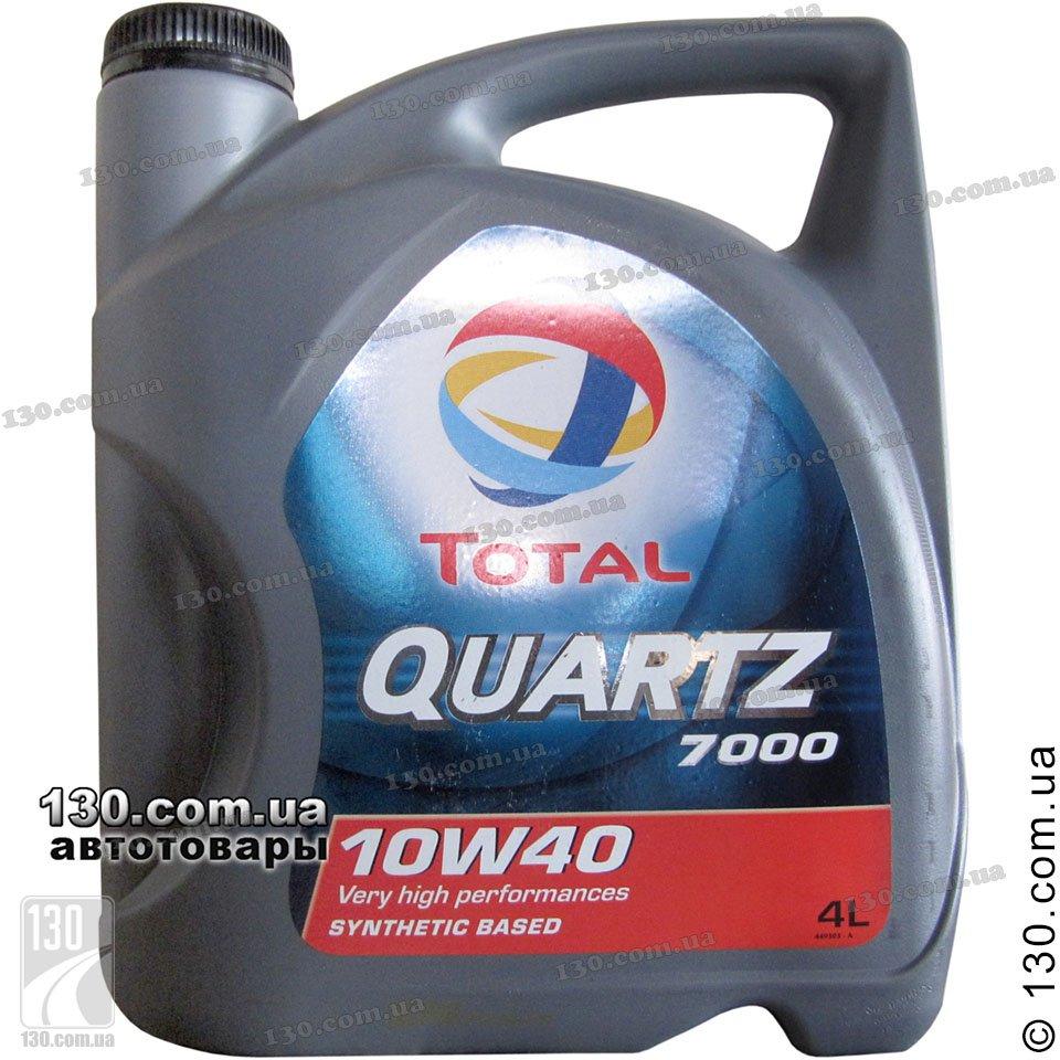Total Quartz 7000 10w 40 Semi Synthetic Motor Oil 4 L