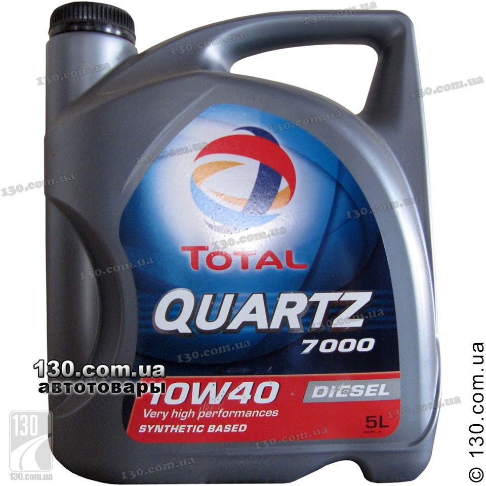 Total Quartz D 7000 10w 40 Semi Synthetic Motor Oil 5