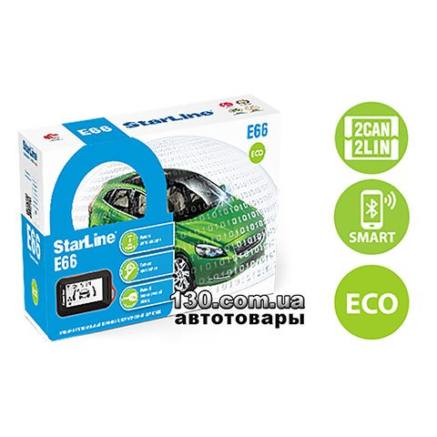 Автосигнализация StarLine E66 BT 2CAN+2LIN ECO с Bluetooth и обратной связью