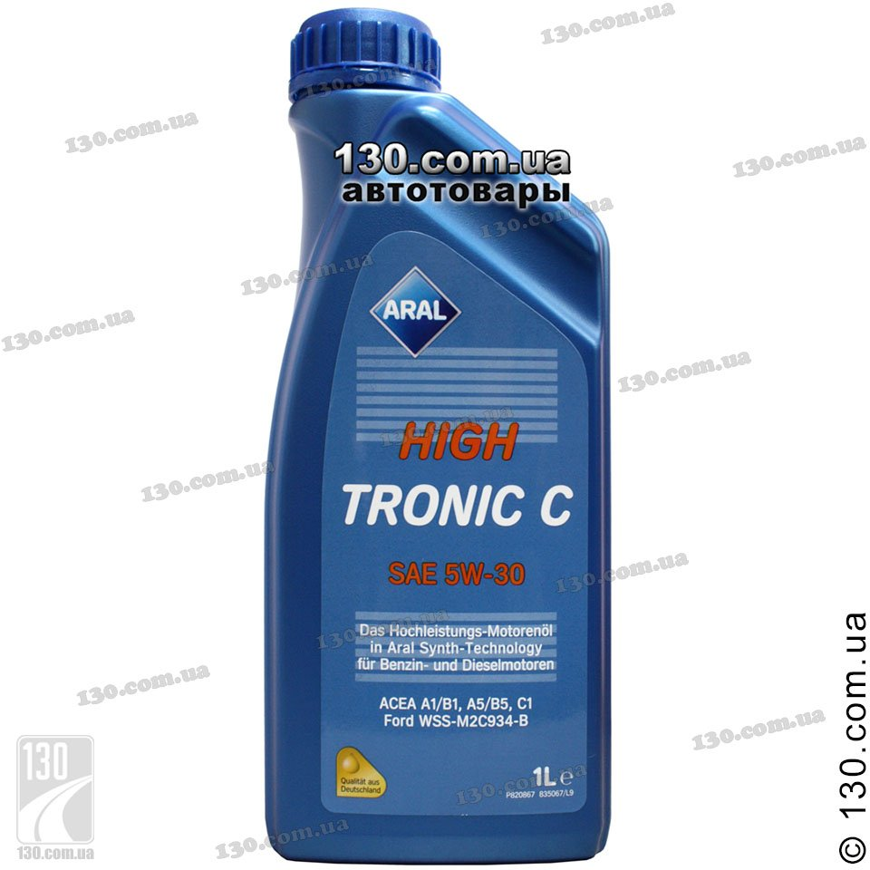 Aral Hightronic C Sae 5w 30 Synthetic Motor Oil 1 L