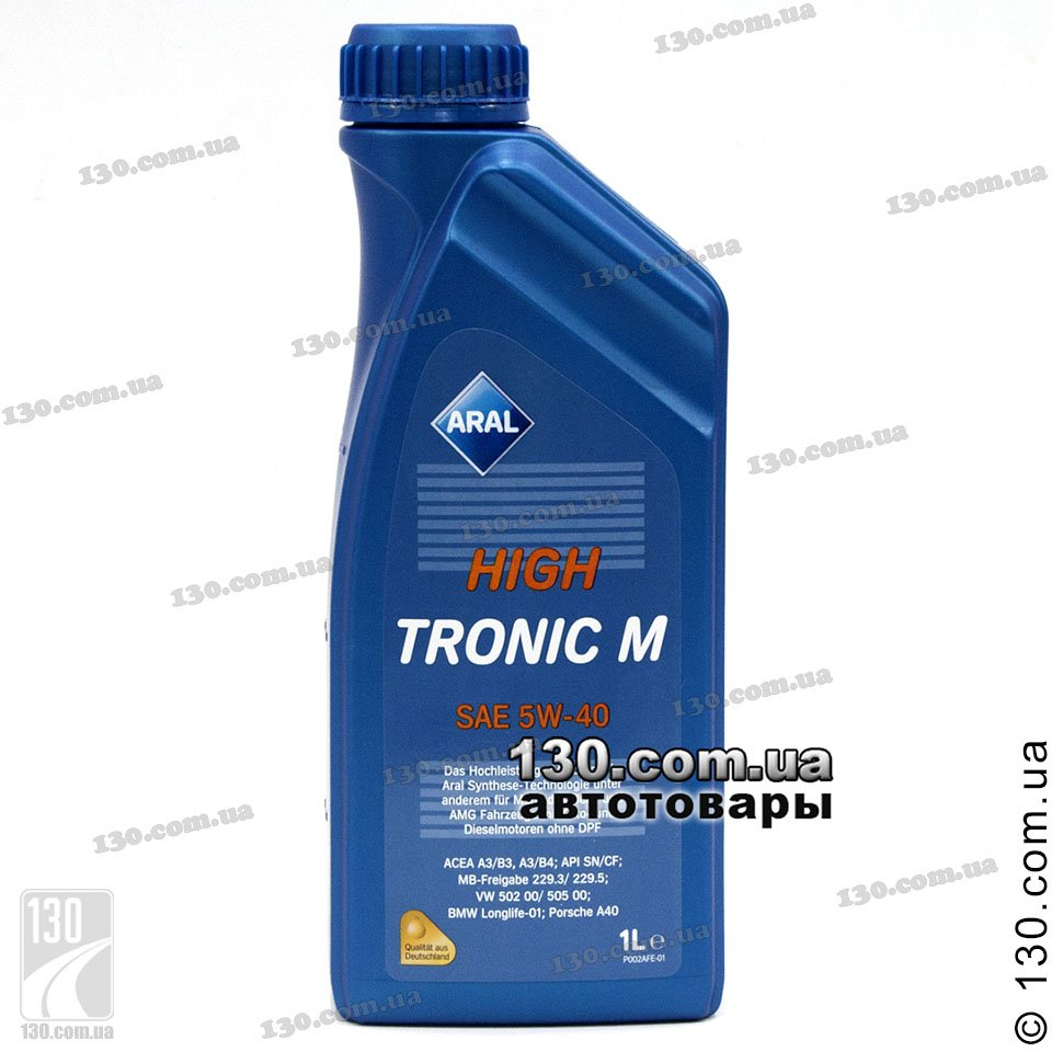 Aral Hightronic M Sae 5w 40 Synthetic Motor Oil 1 L