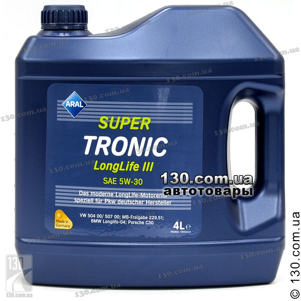 Aral Supertronic Longlife Iii Sae 5w 30 Buy Synthetic