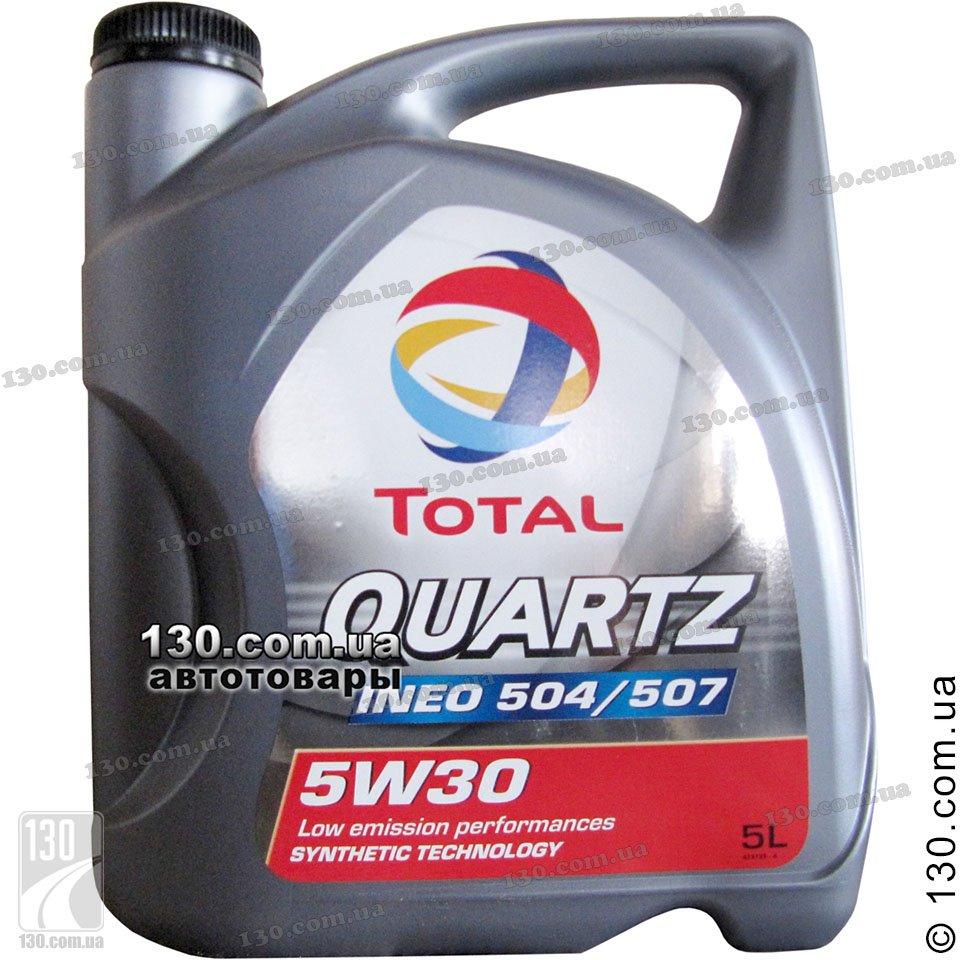 Total Quartz Ineo 504 507 5w 30 Synthetic Motor Oil 5