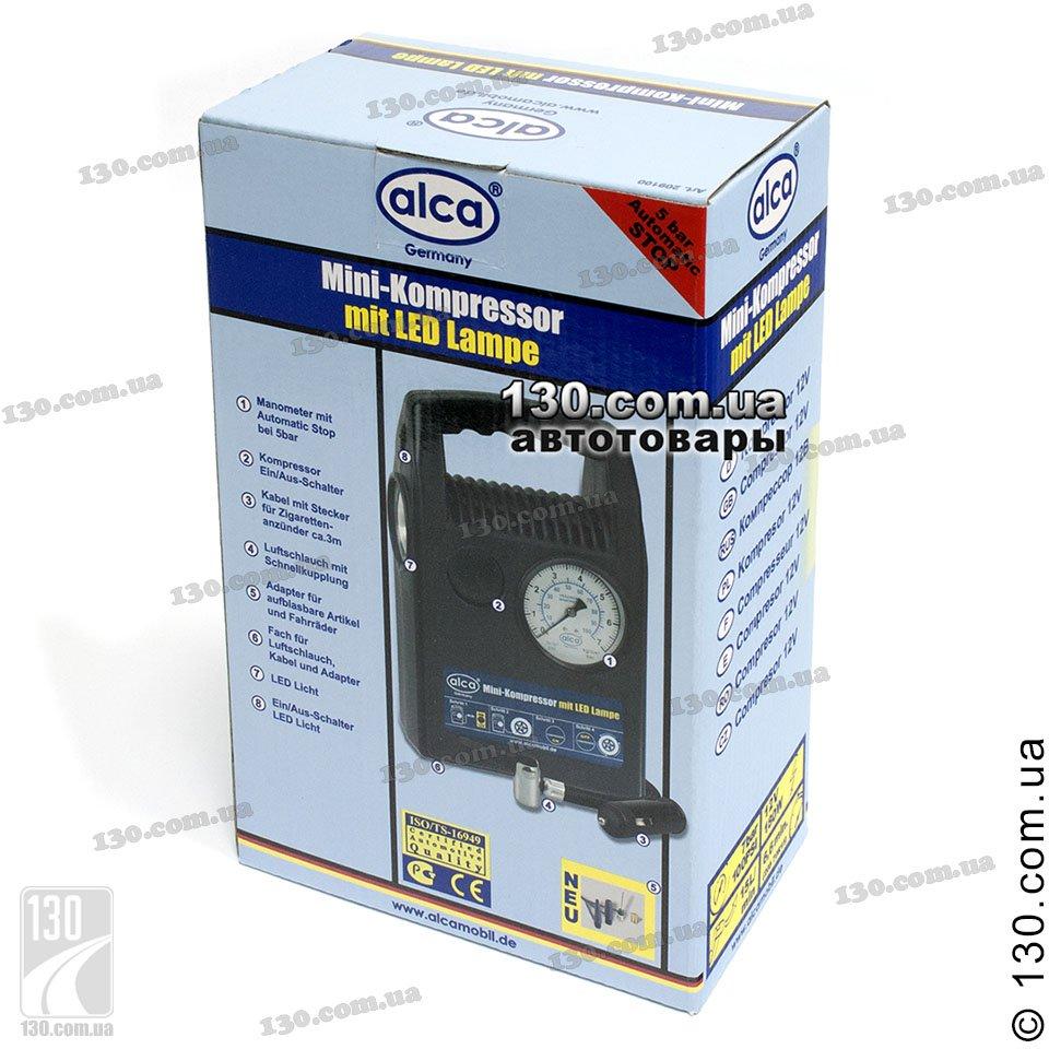 Alca 209 100 Buy Tire Inflator With Pressure Gauge And Led Lamp Kompressor
