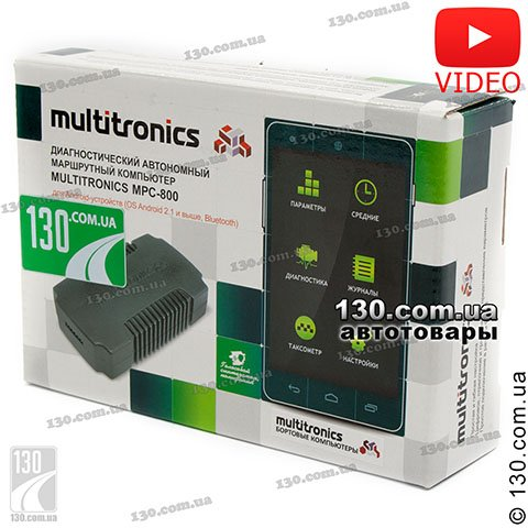 Trip computer (adapter) Multitronics MPC-800 with Bluetooth for Android and iPhone iOS